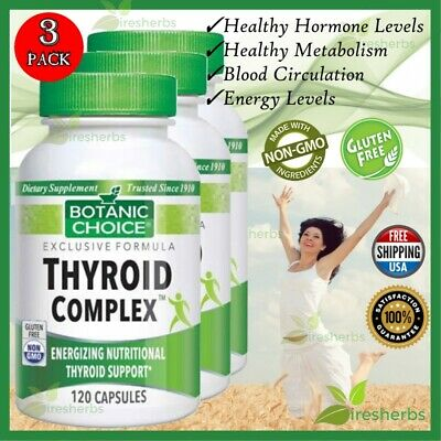 Thyroid Complex Energizing Nutritional Thyroid Support Supplement 360 Capsules