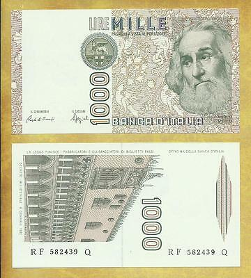 Italy 1000 Lire 1982 Marco Polo Venice Unc Currency Bill P-109b ***USA SELLER***