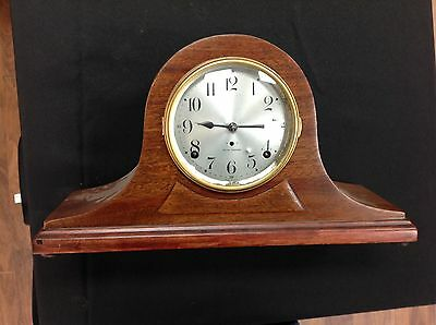 Antique Large SETH THOMAS CAMELBACK Shelf Mantel CLOCK Westminster Chime
