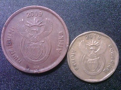 South  Africa    5  Cents    2009       10  Cents   2010