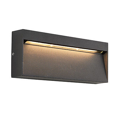 Saxby 69937 TUSCANA Rectangle Matt Black 3W LED IP44 Indirect Outdoor Wall Light