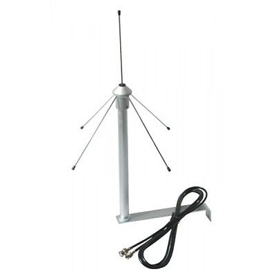 Antenna Gp433 Ground Plane Con Cavo Rg58 E Staffa Di Fissaggio
