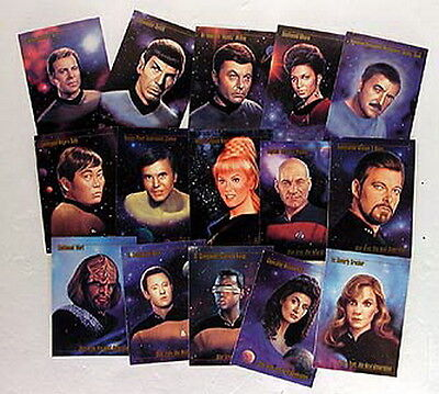 1993-94 Star Trek Master Series 1 & 2 Trading Card Set- 190 Cards- UNUSED