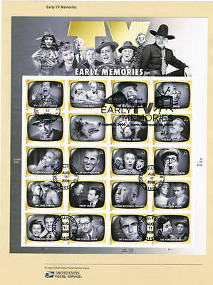 #0933 44c Early TV Memories Stamps #4414a-t Souv Page