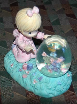 Precious Moments 1997 Easter Girl With Water globe - Rare! FREE SHIPPING