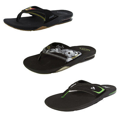 Reef Mens Fanning Bottle Opener Thong Flip Flop Sandals, Rasta 2
