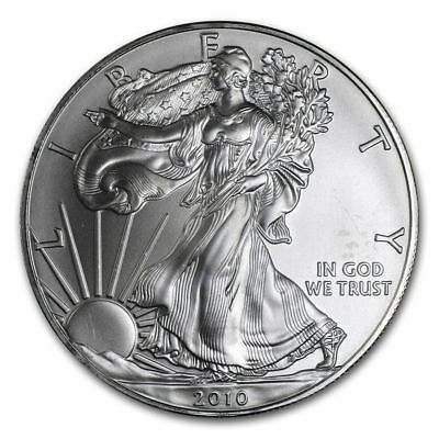 2010 American Silver Eagle 1 oz Silver Coin Direct From Mint Tube