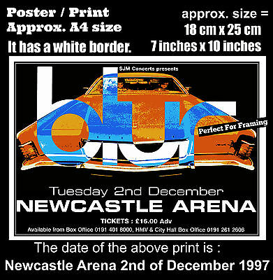 Blur live concert at Newcastle Arena 2nd of December 1997 A4 size poster print