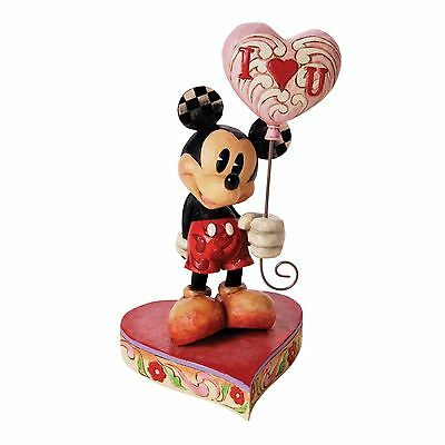 Disney Traditions by Jim Shore Mickey with Heart Balloon Figurine, 8-Inch , New,