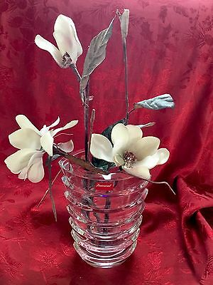 "NEW FLAWLESS Exquisite 8"" France BACCARAT Crystal COCO Art Glass VASE Sculpture"