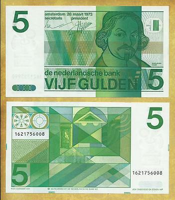 Netherlands 5 Gulden 1973 Unc P-95a ***USA SELLER*** Currency Note Money Bill