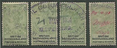 British Bechuanaland #17-20 Used Part Set Vf