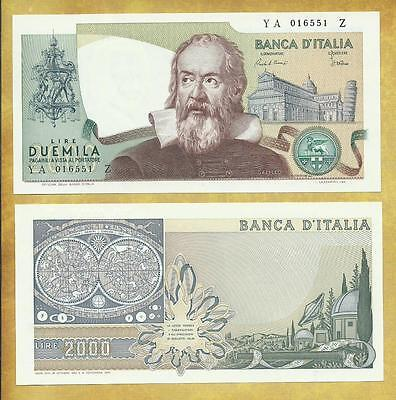 Italy 2000 Lire 1983 Unc P-103c ***USA SELLER*** Currency Bill Money Bank Note