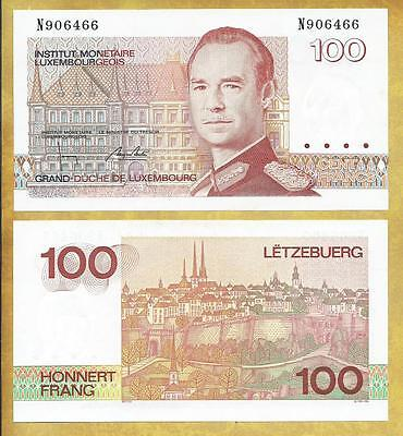 Luxembourg 100 Francs 1986 P-58b Unc Currency Banknote ***USA SELLER***