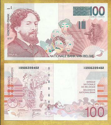 Belgium 100 Francs cir.2001 P-147 ***USA SELLER*** Currency Bank Note Money Bill