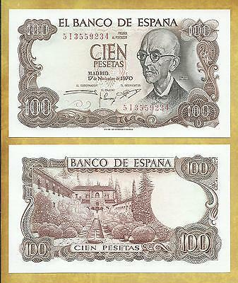 Spain 100 Pesetas 1970 P-152a ***USA SELLER*** Currency Bank Note Money Bill