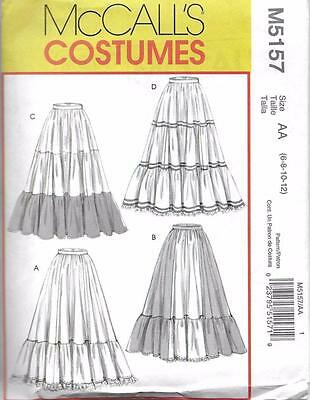 McCall's 5157 oop Misses' Historical Costume Skirts Sewing Pattern