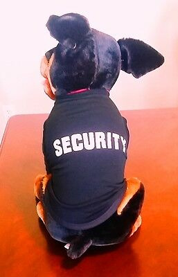 Huge Stuffed Rottweiler Plush Dog 18 inch Tall with Security T Shirt
