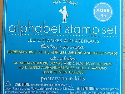 POTTERY BARN KIDS Creative Alphabet Stamp Boxed Set Ages 4+ NEW & SEALED  RARE