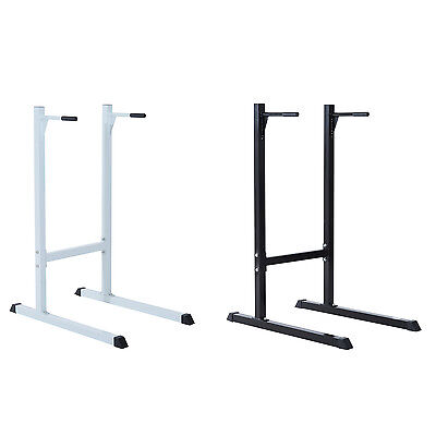 Solid Dip Station Stand Power Tower Pull Chin Up Bar Bench Gym Fitness Exercise
