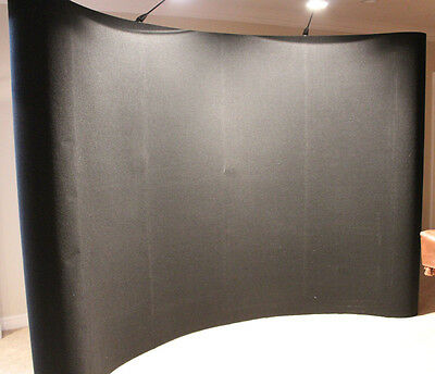 Coyote 10' Pop-up Display - Curved Fabric Excellent Condition with Shipping Case