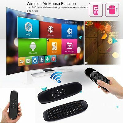 C120 2.4G Fly Air Mouse Mini Wireless Keyboard Remote Control for Android TV Box