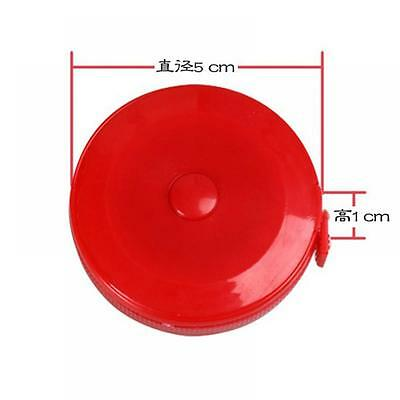 Travel Pocket Plastic Sewing Round Tape Ruler Measure Tapeline