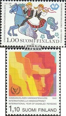 Finland 884,888 mint never hinged mnh 1981 Youth, Disabled