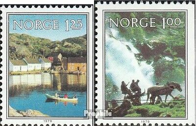 Norway 795Dr-796Dr mint never hinged mnh 1979 Landscapes