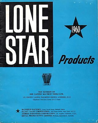 Quality Facsimile 1960 Lone*Star Catalogue + Price List (Zorro Dragnet RAC etc)