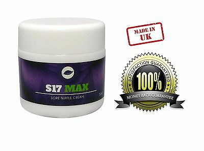 S17 Max Strength Prevents Sore Cracked Nipples Soothing Cream Breast Feeding