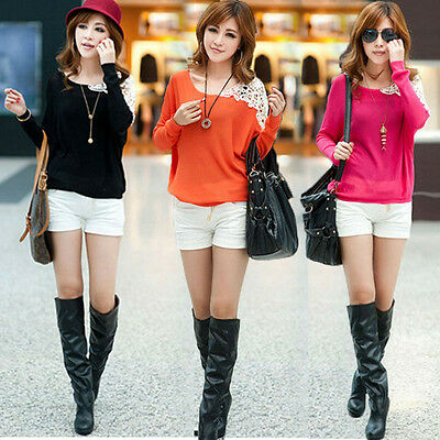 Fashion Women's Summer Loose Top Long Sleeve Blouse Ladies Casual Tops T-Shirt