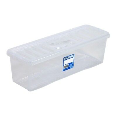 Plastic CD DVD Storage Boxes Box Clear Storage Containers Hold 52 CDs, 36  DVDs