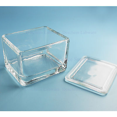 Laboratory Glass Coplin Staining Jar With Cover,20-Slides Type