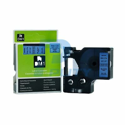 2PK Black on Blue Addhesive Label Tapes Compatible for DYMO D1 40916 9mm x 7m