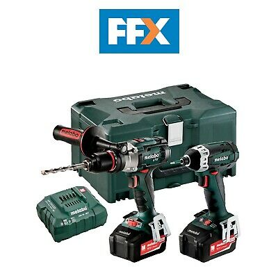 Metabo COMBOSET 2.1.5  18v LTX Hammer Drill and Impact Driver 2 x 5.2Ah
