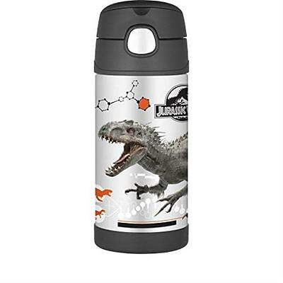 Thermos Funtainer 12 Ounce Bottle, Jurassic World Stainless Steel Durable New