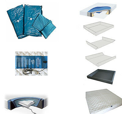 Waterbed Accessories Set Heating Cover Frame Water Mattress 160x200