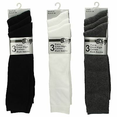 Girls Bay - 'Knee High Cotton Rich Socks' Pack Of Three Perfect For School
