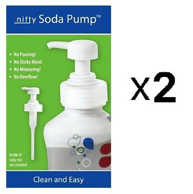 Harold 7297 Nifty Soda Maker Pump Stream Syrup No Mess Bottle Top (2-Pack)