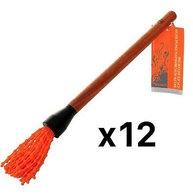 Outset Rosewood Silicone Basting Sop Mop W/ Removable Twist Off Head (12-Pack)