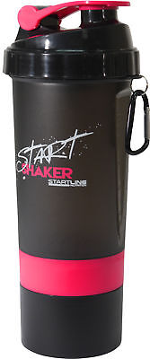 StartLine 600ml Start Shaker Bottle - Black/Pink