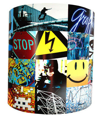 Tricks, Skateboard and Graffiti Ceiling Shade and Wall Stickers Set