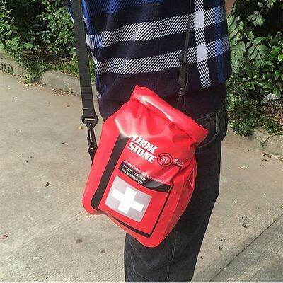 Red Empty Waterproof PVC Emergency First Aid Kit Dry Bag Outdoor Medical Pouch