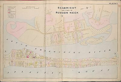 1889 Seabright, Rumson Neck, Octagon House Monmouth County New Jersey, Atlas Map