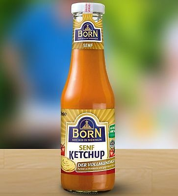 Born Senf Ketchup 450 ml Glasflasche (100ml/€ 0,40)