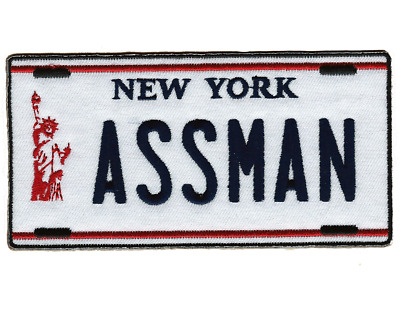 📺 SEINFELD TV SHOW Cosmo Kramer's Impala NY ASSMAN License Plate Iron-On Patch!