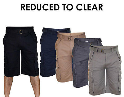 New Mens Bermuda Cotton Combat Cargo Pocket Work Shorts Casual Pants