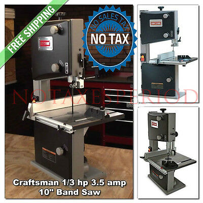 10'' Craftsman Band Saw 3.5 Amp 1/3HP Woodworking Bandsaw Miter Garage Wood Shop
