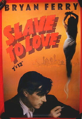 Bryan Ferry 1985 UK double quad poster SLAVE TO LOVE  mint condition
